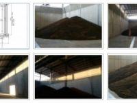 Система за автоматизирано пълнене на плоски складове за зърно с лентови транспортьори с разтоварна количка